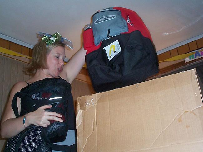 "Kat getting her ""Birthday Present"""