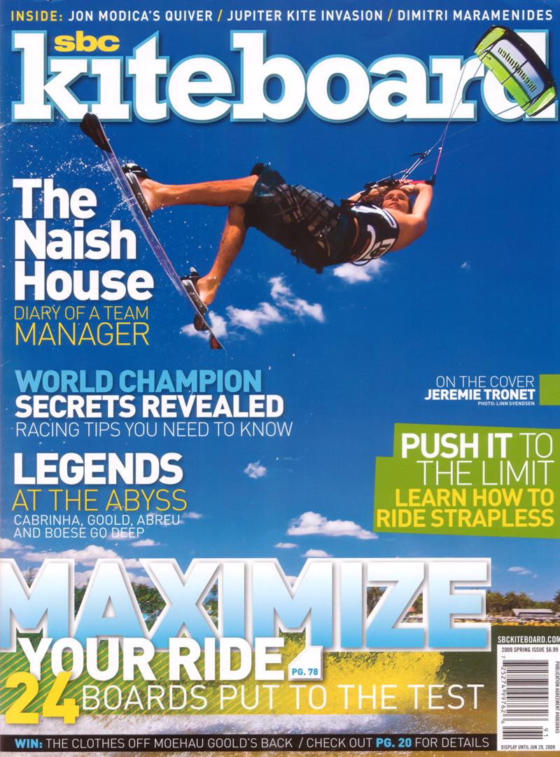 SBC Kiteboarding Spring 2009 Cover