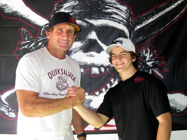 Jesse with legendary waterman Robby Naish