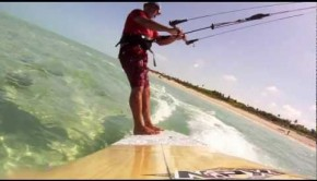 standup kitesurfing…again