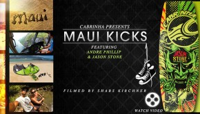 Jason Stone and Andre Phillip Wakeskating in Maui Kicks