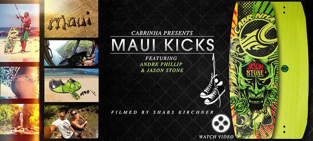 Jason Stone and Andre Phillip Wakeskating in Maui Kicks