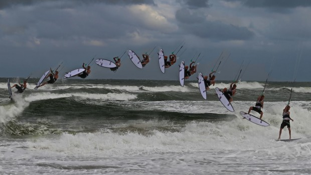 Johnny Berger with a backside re-entry that we can all do in our dreams. SICK! Photo courtesy of Barbara von Traumer.